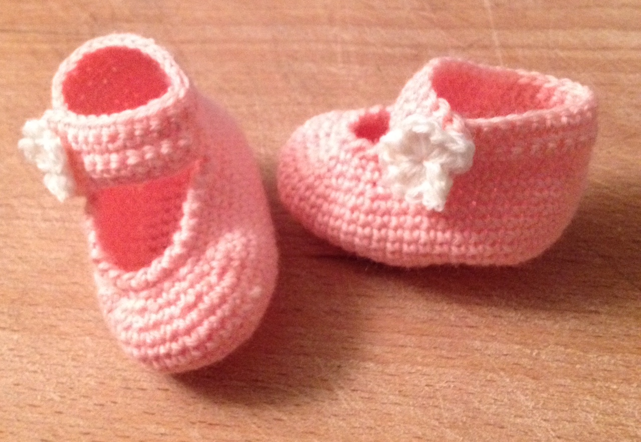 Scarpine Neonato Nuvola Rosa Crochetime