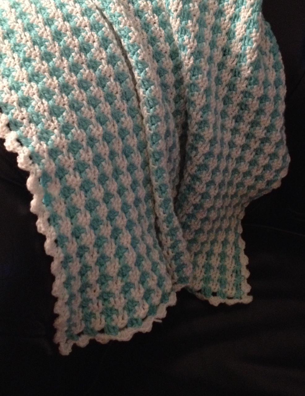 Copertina Neonato Pied De Poule Crochetime